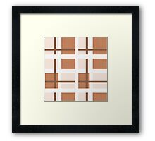 Abstract houndstooth Framed Print