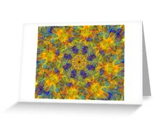 Abstract fractal patterns Greeting Card