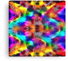 abstract fractal retro style colors Canvas Print