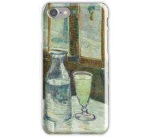 Vincent Van Gogh - Cafe Table With Absinth. Cafe view: drinking and eating party, woman and man, people, family, female and male, peasants, cafe, romance, women and men, restaurant, food iPhone Case/Skin
