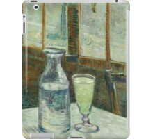 Vincent Van Gogh - Cafe Table With Absinth. Cafe view: drinking and eating party, woman and man, people, family, female and male, peasants, cafe, romance, women and men, restaurant, food iPad Case/Skin