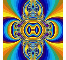 abstract fractal style colors Photographic Print
