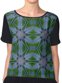 Abstract flora and fauna fractal art ornament. Chiffon Top
