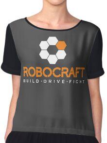 Robocraft Logo (White) Chiffon Top