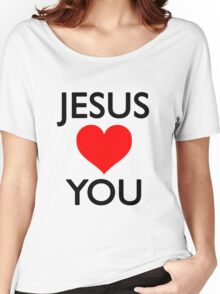 Jesus loves you Women's Relaxed Fit T-Shirt