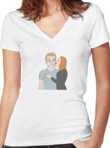 SteveNatasha Women's Fitted V-Neck T-Shirt