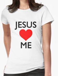 Jesus loves me Womens Fitted T-Shirt