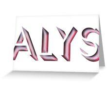 Alys Greeting Card