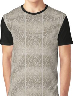 Unreadable Text Graphic T-Shirt