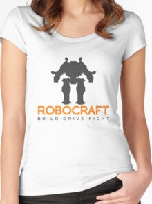 Robocraft Mech + Logo Women's Fitted Scoop T-Shirt