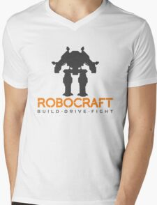 Robocraft Mech + Logo Mens V-Neck T-Shirt