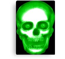 Creepy Green Skull Canvas Print