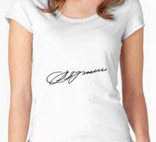 Signature of Vladimir Putin Women's Fitted Scoop T-Shirt