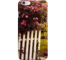 Picket Fence Florals iPhone Case/Skin