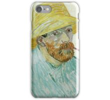 Vincent Van Gogh - Self-Portrait With Pipe And Straw Hat. Man portrait iPhone Case/Skin