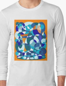 Blue and orange design by Moma Long Sleeve T-Shirt