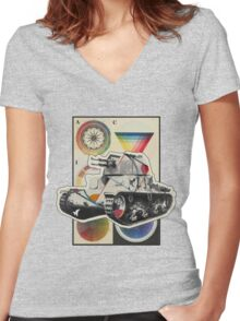 Carro Armato. Women's Fitted V-Neck T-Shirt