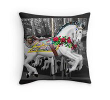Goth Version ~ Roses and Angels Throw Pillow