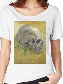 Vincent Van Gogh - Skull.  portrait skull: skeletal, skeleton, smoking, teeth, mouth, skull, remains, ash, head, fantasy , death Women's Relaxed Fit T-Shirt