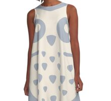 Dusk Pastels Owl A-Line Dress