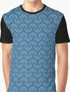Blue baroque pattern Graphic T-Shirt