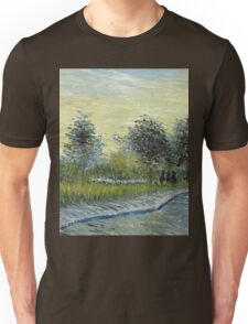 Vincent Van Gogh - Square Saint-Pierre At Sunset. Garden landscape: garden view, trees and flowers, blossom, nature, botanical park, floral flora, wonderful flowers, plants, cute plant, garden, flower Unisex T-Shirt