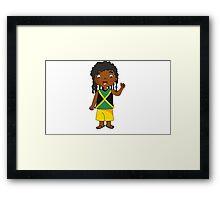 jamaica boy Framed Print