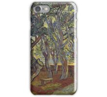 Vincent Van Gogh - The Garden Of Saint Paul S Hospital. Garden landscape: trees and flowers, blossom, nature, botanical park, floral flora, wonderful flowers, plants, cute plant, garden, flower iPhone Case/Skin