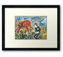Michael Jackson's Zoo: Sergei Lefert's drawing Framed Print
