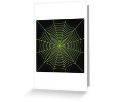 Neon green spider web Greeting Card