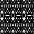 Starry Night | Black and White Patterns #3 by webgrrl