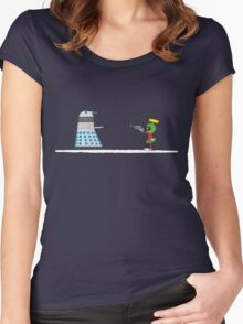 To Exterminate or Disintegrate Women's Fitted Scoop T-Shirt