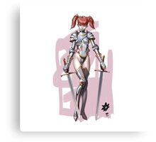 knight girl Canvas Print