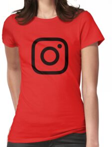 New Instagram Logo Black&White Womens Fitted T-Shirt