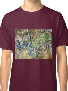 Vincent Van Gogh - Tree-Roots. Garden landscape: garden view, trees and flowers, blossom, nature, botanical park, floral flora, wonderful flowers, plants, cute plant, garden, flower Classic T-Shirt