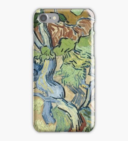 Vincent Van Gogh - Tree-Roots. Garden landscape: garden view, trees and flowers, blossom, nature, botanical park, floral flora, wonderful flowers, plants, cute plant, garden, flower iPhone Case/Skin