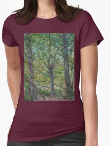 Vincent Van Gogh - Trees. Forest view: forest , trees,  fauna, nature, birds, animals, flora, flowers, plants, field, weekend Womens Fitted T-Shirt
