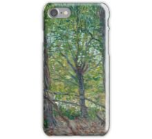 Vincent Van Gogh - Trees. Forest view: forest , trees,  fauna, nature, birds, animals, flora, flowers, plants, field, weekend iPhone Case/Skin