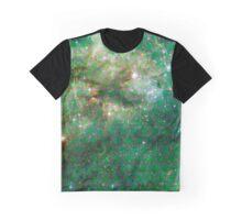 Tarantula Nebula Metatron's Cube Pattern Overlay [Green] Graphic T-Shirt