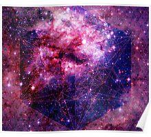 Tarantula Nebula Double Metatron's Cube Mewtwo Poster