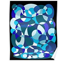 Blue decorative design by Moma Poster
