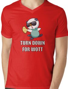 TURN DOWN FOR WOTT Mens V-Neck T-Shirt