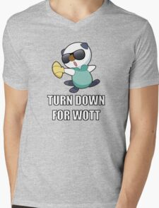 TURN DOWN FOR WOTT Mens V-Neck T-Shirt
