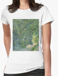 Vincent Van Gogh - Path In The Woods. Forest view: forest , trees,  fauna, nature, birds, animals, flora, flowers, plants, field, weekend Womens Fitted T-Shirt