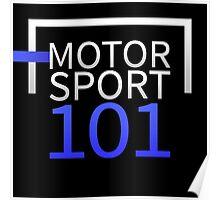 Motorsport101 Light Logo Poster