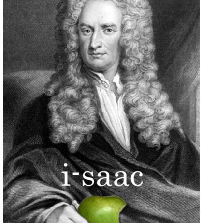 i-saac Newton Sticker