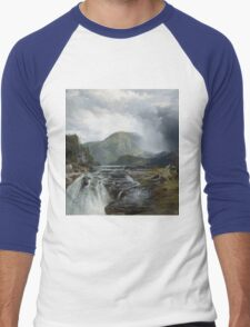 Thomas Moran - The Wilds Of Lake Superior. Mountains landscape: mountains, rocks, rocky nature, sky and clouds, trees, peak, forest, rustic, hill, travel, hillside T-Shirt