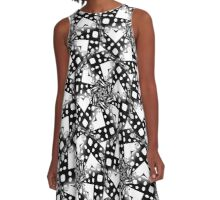 BW Starsky  Abstract Pattern A-Line Dress