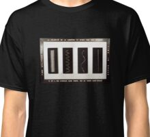 The Speed of Light According to René Magritte Classic T-Shirt