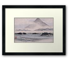 Utagawa Hiroshige - Fuji Marsh, Suruga Province, From Twelve Views Of Mt. Fuji. Mountains landscape Framed Print